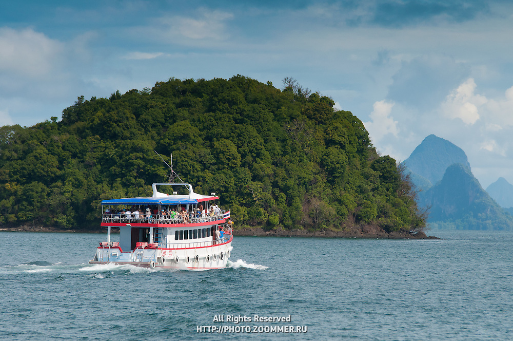 Ferries in Phang Nga marine park, Thailand