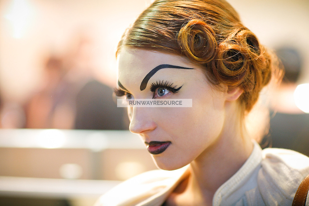 Olga Sherer Backstage at Christian Dior Couture Fall 2007
