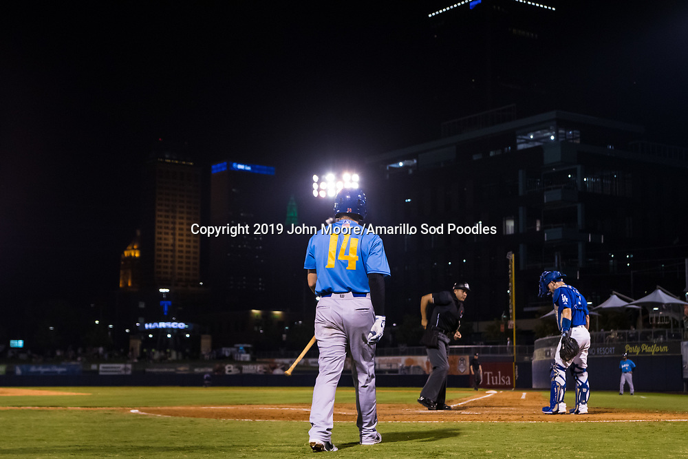 Amarillo Sod Poodles infielder Owen Miller (14) against the Tulsa Drillers during the Texas League Championship on Saturday, Sept. 14, 2019, at OneOK Field in Tulsa, Oklahoma. [Photo by John Moore/Amarillo Sod Poodles]