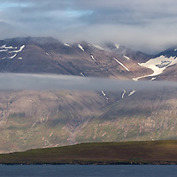 Mountain scenerys in the north of Island between Dalvík and Ólafsfjörður. This area of the country is particularly famous for skiing.