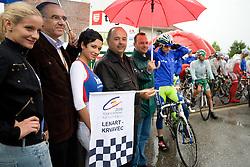 Mayor of Lenart mag. Janez Kramberger at start of 3rd stage of Tour de Slovenie 2009 from Lenart to Krvavec, 175 km, on June 20 2009, Slovenia. (Photo by Vid Ponikvar / Sportida)