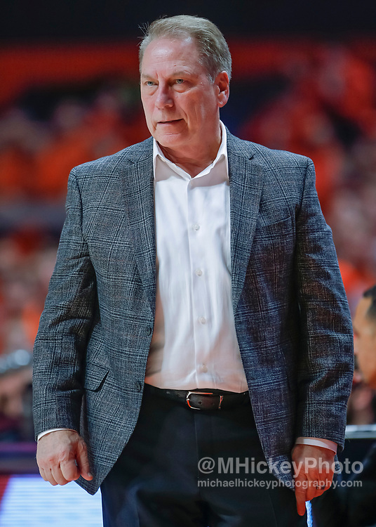 CHAMPAIGN, IL - FEBRUARY 05: Head coach Tom Izzo of the Michigan State Spartans is seen during the game against the Illinois Fighting Illini at State Farm Center on February 5, 2019 in Champaign, Illinois. (Photo by Michael Hickey/Getty Images) *** Local Caption *** Tom Izzo