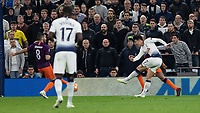 Football - 2018 / 2019 UEFA Champions League - Quarter Final , First Leg: Tottenham Hotspur vs. Manchester City<br /> <br /> Heung-Min Son (Tottenham FC) scores the only goal of the game at White Hart Lane Stadium.<br /> <br /> COLORSPORT/DANIEL BEARHAM