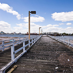 The old bridge that used to connect the Pleasure Beach area to Bridgeport, Connecticut.  It bruned in 1996.  Adjacent to Long Beach in Stratford.