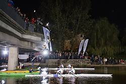 View on the river at farewell of an exceptional athlete Iztok Cop at Ljubljanica river, on September 21, 2012 on river Ljubljanica, Ljubljana Slovenia. (Photo By Matic Klansek Velej / Sportida)