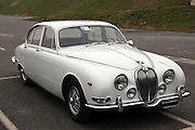 Classic white Jaguar MK2 Saloon