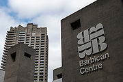 The Barbican Centre on the 12th September 2019 in London in the United Kingdom. The Barbican Centre is a performing arts centre in the Barbican Estate of the City of London and the largest of its kind in Europe.