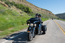 Rocky Mountain HOG Rally organized ride from Steamboat Springs to Doc Holliday's Harley-Davidson in Glenwood Springs, Colorado, USA. Thursday June 8, 2017. Photography ©2017 Michael Lichter.