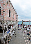 The Doge's Palace. Originally the residence of the Doge of Venice, the supreme authority of the Republic of Venice, however in 1923 it was opened as museum. Venice. Italy 2014