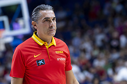 September 17, 2018 - Madrid, Spain - Coach Sergio Scariolo of Spain during the FIBA Basketball World Cup Qualifier match Spain against Latvia at Wizink Center in Madrid, Spain. September 17, 2018. (Credit Image: © Coolmedia/NurPhoto/ZUMA Press)