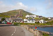 General view of Castlebay the largest settlement in Barra, Outer Hebrides, Scotland, UK
