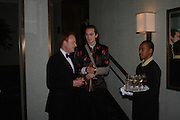 David Stephens and Arthur BurnandWhite Knights Ball, Grosvenor House Hotel 7 January 2005. ONE TIME USE ONLY - DO NOT ARCHIVE  © Copyright Photograph by Dafydd Jones 66 Stockwell Park Rd. London SW9 0DA Tel 020 7733 0108 www.dafjones.com