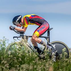 EMMEN (NED) June 16: <br />CYCLING <br />Dutch Nationals Time Trail men U23 Yanne Dorenbos