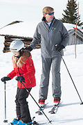 Fotosessie met de koninklijke familie in Lech /// Photoshoot with the Dutch royal family in Lech .<br /> <br /> Op de foto/ On the photo: Kioning Willem Alexander met  Prinses Alexia  ///// King Willem Alexander
