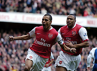 Photo: Olly Greenwood.<br />Arsenal v Reading. The Barclays Premiership. 03/03/2007. Arsenal's Gilberto Silva celebrates scoring