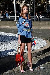 Marina Ruy Barbosa attending the Miu Miu show as a part of Paris Fashion Week Ready to Wear Spring/Summer 2017 in Paris, France on October 05, 2016. Photo by Aurore Marechal/ABACAPRESS.COM