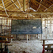 A typical Akha village primary school classroom in a remote village, Ban Huayana Khang, Luang Namtha province, Lao PDR.