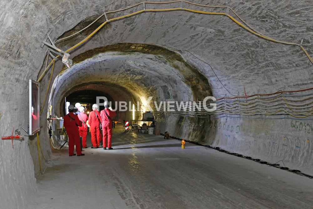 Unter Tage im Bergwerk zur Erkundung eines Endlagers für hochradioaktiven Atommüll in Gorleben<br /> <br /> Ort: Gorleben<br /> Copyright: Andreas Conradt<br /> Quelle: PubliXviewinG