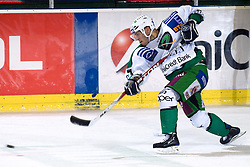 Domen Vedlin (HDD Tilia Olimpija, #7) during ice-hockey match between HDD Tilia Olimpija and EHC Liwest Black Wings Linz in 18th Round of EBEL league, on November 5, 2010 at Hala Tivoli, Ljubljana, Slovenia. (Photo By Matic Klansek Velej / Sportida.com)