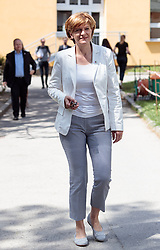 06.05.2018, Innsbruck, AUT, Bürgermeisterstichwahl Innsbruck, Stimmabgabe, im Bild Christine Oppitz-Plörer (FI) // during the mayoral stitch election in Innsbruck, Austria on 2018/05/06. EXPA Pictures © 2018, PhotoCredit: EXPA/ Johann Groder