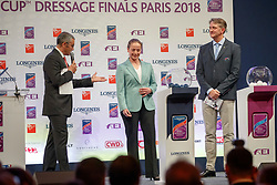 Werth Isabell, Ger, Ludovic Henry, FRA<br /> LONGINES FEI World Cup™ Finals Paris 2018<br /> © Hippo Foto - Stefan Lafrentz<br /> 11/04/2018