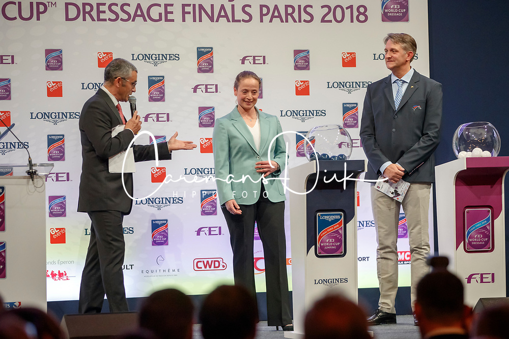 Werth Isabell, Ger, Ludovic Henry, FRA<br /> LONGINES FEI World Cup™ Finals Paris 2018<br /> © Hippo Foto - Stefan Lafrentz<br /> 11/04/2018