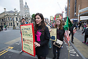 Housing is a Mental Health Issue demonstration with Focus E15 on 21st May 2016 in East London, United Kingdom. Housing activists, Focus E15, rally from Stratford International Train Station to Stratford High Street campaigning to demand more social housing in the London borough of Newham. The demonstration was held at the end of Mental Health Awareness Week, focusing on the mental health implications of inadequate housing