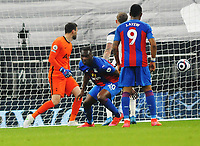 Football - 2020 / 2021 Premier League - Tottenham Hotspur vs Crystal Palace - Tottenham Hotspur Stadium<br /> <br /> Christian Benteke of Crystal Palace heads their equalising goal on the stroke of half time<br /> <br /> Credit : COLORSPORT/ANDREW COWIE