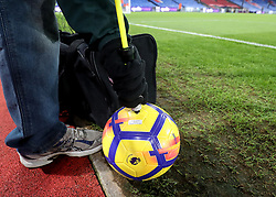 Match balls are inflated before the Premier League match at Selhurst Park, London, Thursday 28th December 2017