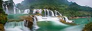 Vietnam Images-Panoramic landscape-Ban Gioc waterfall-Cao bang