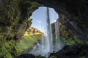 Kvernufoss is near the well known Skogafoss waterfall.