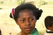 Madagascar, Anosy region, A young Madagascan girl