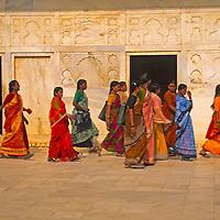 Asia, India. Women in colorful saris.