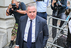 © Licensed to London News Pictures. 25/07/2019. London, UK. Attorney General GEOFFREY COX speaks with the media after departing from No 10 Downing Street after attending Boris Johnson's first cabinet meeting. Photo credit: Dinendra Haria/LNP
