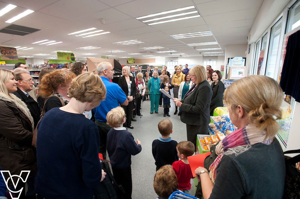 Official opening of the Lincolnshire Co-operative's new foodstore in Dunholme.<br /> <br /> Pictured is Lincolnshire Co-operative's president Reverend Barbara Hutchinson who officially opened the store<br /> <br /> Thursday, October 23, 2014