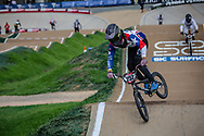 #252 (PALOMINOS RODRIGUEZ Cristobal Andres) CHI at Round 2 of the 2020 UCI BMX Supercross World Cup in Shepparton, Australia.