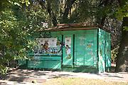 Closed neighborhood store sklep. Balucki District Lodz Central Poland