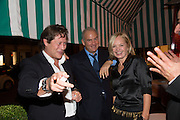ARPAD BUSSON; CHARLES FINCH; MARIELA FROSTRUP, Charles Finch and  Jay Jopling host dinner in celebration of Frieze Art Fair at the Birley Group's Harry's Bar. London. 10 October 2012.