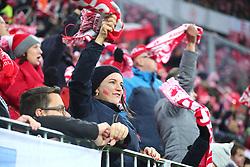 November 13, 2017 - Gdansk, Poland - Fans during the international friendly soccer match between Poland and Mexico at the Energa Stadium in Gdansk, Poland on 13 November 2017  (Credit Image: © Mateusz Wlodarczyk/NurPhoto via ZUMA Press)