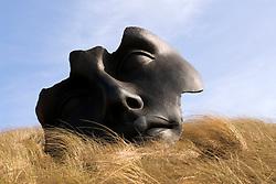 Modern art sculptures on display at Museum Beelden-aan-Zee in Scheveningen outside Den Hague in Holland