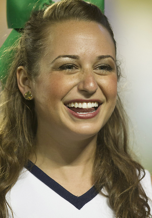 January 7, 2013:  Notre Dame cheerleader Allie Rzepczynski during the Discover BCS National Championship between the Alabama Crimson Tide and the Notre Dame Fighting Irish at Sun Life Stadium in Miami Gardens, Florida.  Alabama defeated Notre Dame 42-14.