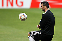 20120213: BRAGA, PORTUGAL - Hugo Almeida at the Besiktas JK training session before UEFA Europe League match against SC Braga.<br />