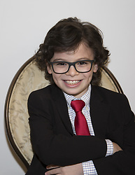 April 1, 2017 - Hollywood, California, U.S. - RAPHAEL ALEJANDRO promotes 'How to be a Latin Lover' Raphael Alejandro was born on August 22, 2007 in Montreal, Quebec, Canada. He started his acting career at the age of 4. He is known for Once Upon a Time, Kindergarten Cop 2, Olympus, Badge of Honor, among others. He is the youngest child of three. Dalila Bela is his sister and Bruce Salomon is his brother, both also actors. (Credit Image: © Armando Gallo via ZUMA Studio)