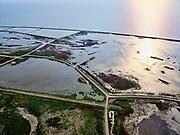 Nederland, Flevoland, Markermeer, 26-08-2019; Marker Wadden in het Markermeer. Westzijde van de archipel, richting haven.<br /> Doel van het project van Natuurmonumenten en Rijkswaterstaat is natuurherstel, met name verbetering van de ecologie in het gebied, in het bijzonder de kwaliteit van bodem en water<br /> Naast het hoofdeiland is er inmiddels een tweede eiland in wording, de uiteindelijk Marker Wadden archipel zal uit vijf eilanden bestaan. <br /> Marker Wadden, artifial islands. The aim of the project is to restore the ecology in the area, in particular the quality of soil and water.<br /> The first phase of the construction, the main island, is finished. <br /> <br /> luchtfoto (toeslag op standard tarieven);<br /> aerial photo (additional fee required);<br /> copyright foto/photo Siebe Swart