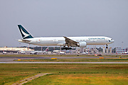 B-KPY Cathay Pacific Boeing 777 at Malpensa (MXP / LIMC), Milan, Italy