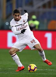 February 3, 2019 - Rome, Italy - AS Roma v AC Milan - Serie A.Ricardo Rodriguez of Milan at Olimpico Stadium in Rome, Italy on February 3, 2018. (Credit Image: © Matteo Ciambelli/NurPhoto via ZUMA Press)