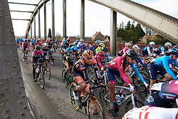 Jolien D'hoore (BEL) in the bunch at Le Samyn des Dames 2019, a 101 km road race from Quaregnon to Dour, Belgium on March 5, 2019. Photo by Sean Robinson/velofocus.com