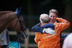 Kittel Patrick, (SWE), Watermill Scandic HBC and his owner Jan Greve<br /> CDI5* Grand Prix Freestyle<br /> CHIO Rotterdam 2015<br /> © Hippo Foto - Dirk Caremans<br /> 20/06/15