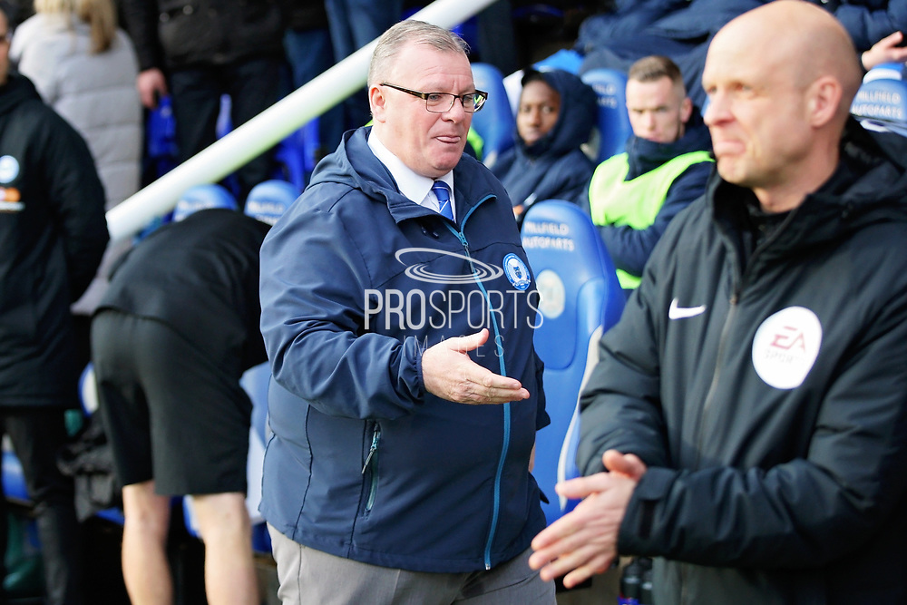 Peterborough United manager Steve Evans before getting sacked by the club after the EFL Sky Bet League 1 match between Peterborough United and Charlton Athletic at London Road, Peterborough, England on 26 January 2019.