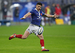 France's Romain Ntamack during the Guinness Six Nations match at the Stade De France, Paris